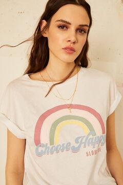 Cortefiel T-shirt de manga curta Branco