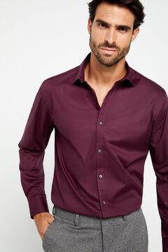 Cortefiel Stretch poplin shirt Fuchsia