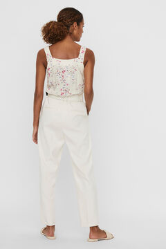 Cortefiel Ankle-length trousers Stone