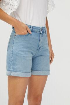 Cortefiel Basic denim shorts Royal blue