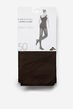 Cortefiel Opac 50D Tights Dark brown