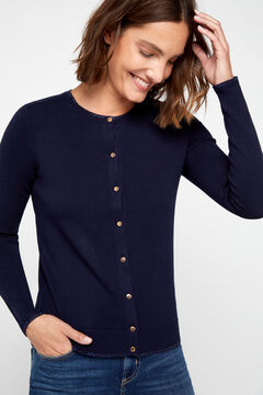 Cortefiel Lurex trim jacket Navy