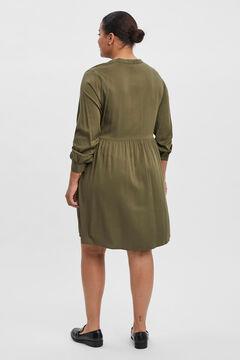 Cortefiel Vestido camiseiro Curve Verde
