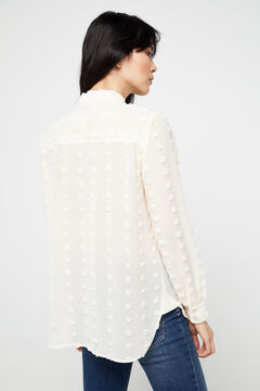 Cortefiel Relief fabric shirt White