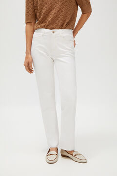 Cortefiel Jeans straight fit Branco