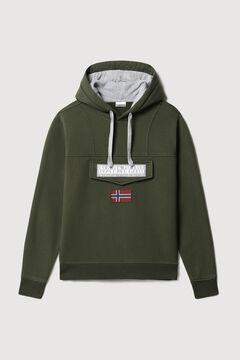 Cortefiel Napapijri BURGEE WINT hooded sweatshirt Green