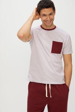 Cortefiel Jersey-knit pyjamas Redgarnet