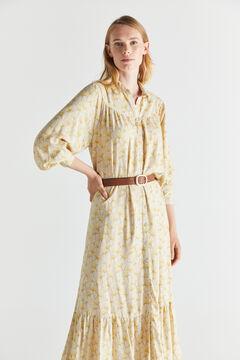 Cortefiel Vestido camisero tejido sostenible Marrón