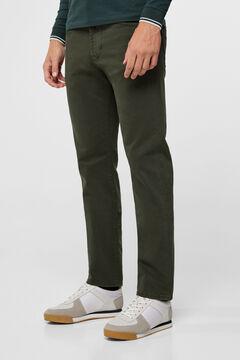 Cortefiel Regular fit coloured jeans Dark green