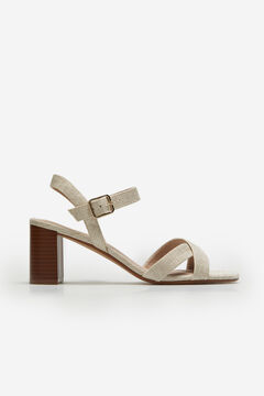 Cortefiel Fabric sandal with crossover straps White