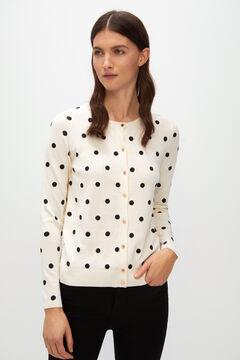 Cortefiel Printed jersey-knit jacket Kaki
