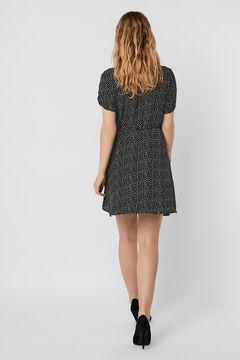Cortefiel Crossover dress Black