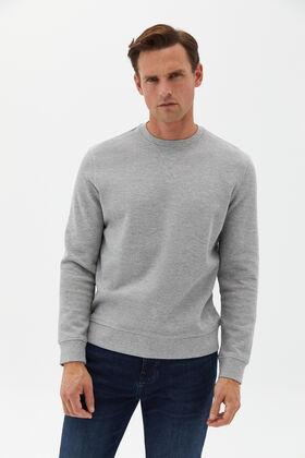 Cortefiel Textured fabric sweatshirt Gray