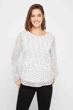 Cortefiel Pleated top White