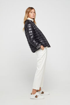 Cortefiel Reversible feather bomber jacket Black