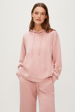 Cortefiel Super soft feel hooded sweatshirt Purpura