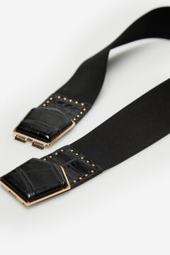 Cortefiel Wide stretch belt Black