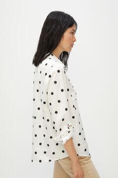 Cortefiel Camisa cargo 100% lyocell Marfil