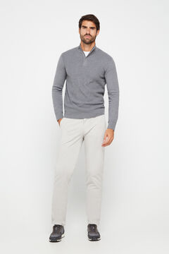 Cortefiel Pantalón chino regular fit ligero Gray