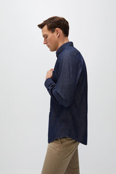 Cortefiel Denim shirt Navy