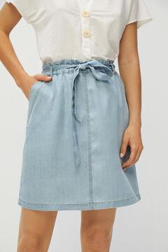 Cortefiel 100% Lyocell flowing denim skirt Bluejeans