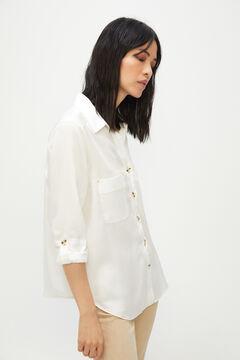 Cortefiel 100% Lyocell cargo shirt White