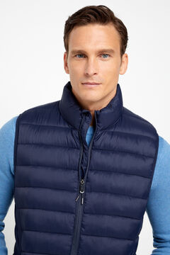 Cortefiel Ultralight quilted vest with Thermolite eco Navy