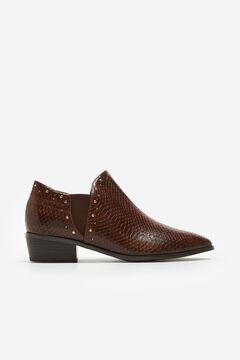 Cortefiel Snakeskin effect ankle boot Kaki