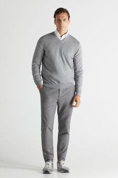 Cortefiel Slim fit COOLMAX® chinos Gray
