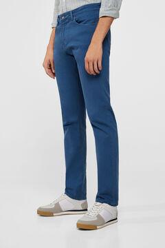 Cortefiel Regular fit coloured jeans Royal blue