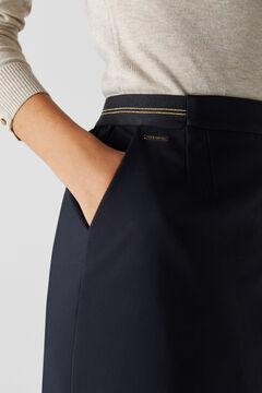 Cortefiel Straight skirt with elasticated waist Black