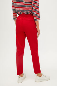 Cortefiel Stretch trousers Red garnet