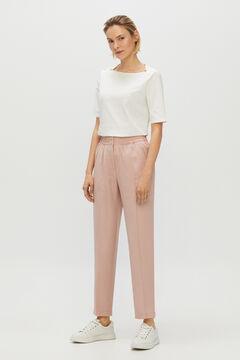 Cortefiel Slim fit Tencel trousers Purpura
