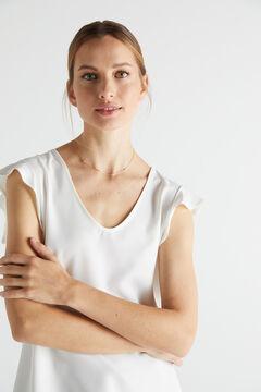 Cortefiel ALWAYS short necklace - Crystal - Gold Beige