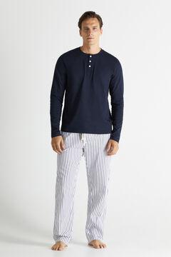 Cortefiel Jersey-knit and cotton pyjamas Navy