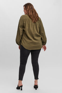 Cortefiel Camisa Curve Verde
