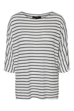 Cortefiel 3/4-length sleeve blouse White