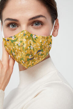 Cortefiel Reusable ditsy print face mask Beige