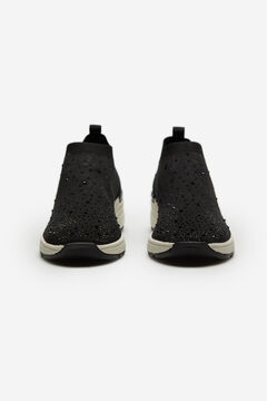 Cortefiel Ultralight sock trainers with stones Black