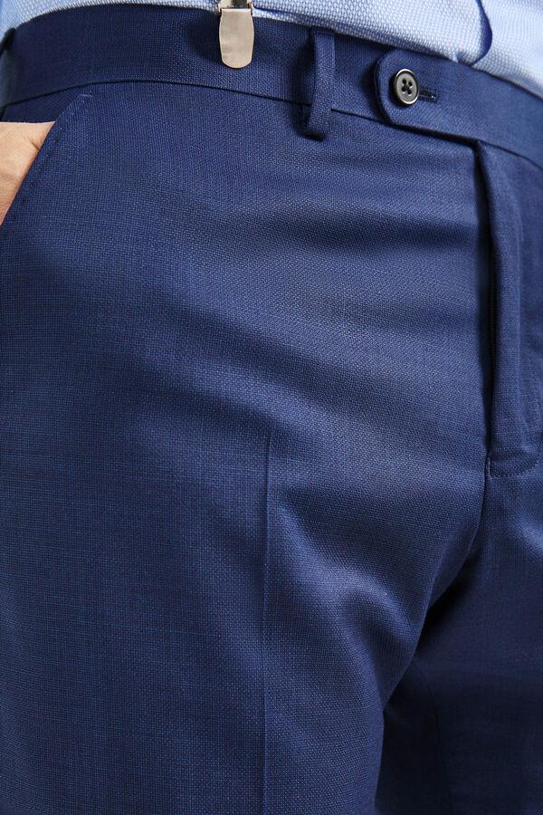 f5e046771ef0a Cortefiel Pantalón traje estructura tailored fit Azul