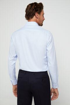 Cortefiel Camisa de vestir estructura tailored Azul