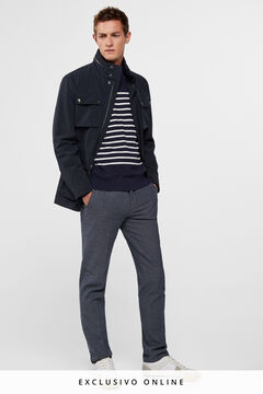 Cortefiel Combinable jacket with 4 pockets (all weather) Navy