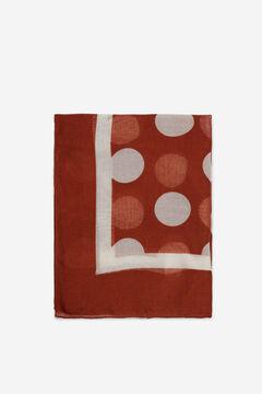 Cortefiel Two-tone polka-dot scarf Vanilla
