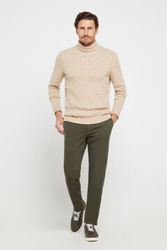 Cortefiel Slim fit winter weight chinos Dark gray