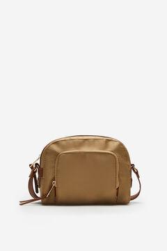 Cortefiel Nylon-type crossbody bag Brown