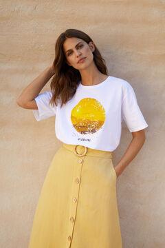Cortefiel T-shirt oversize Branco