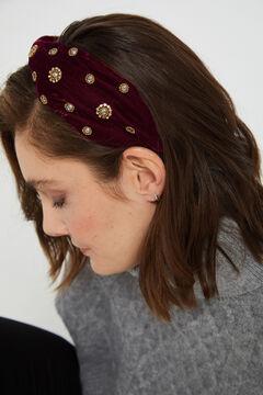 Cortefiel Rigid headband Fuchsia