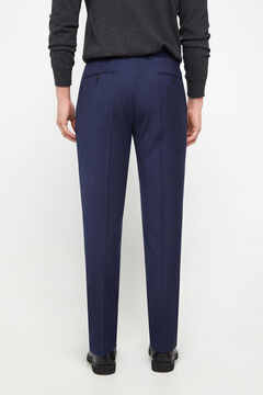 Cortefiel Pantalón franela tailored fit Azul