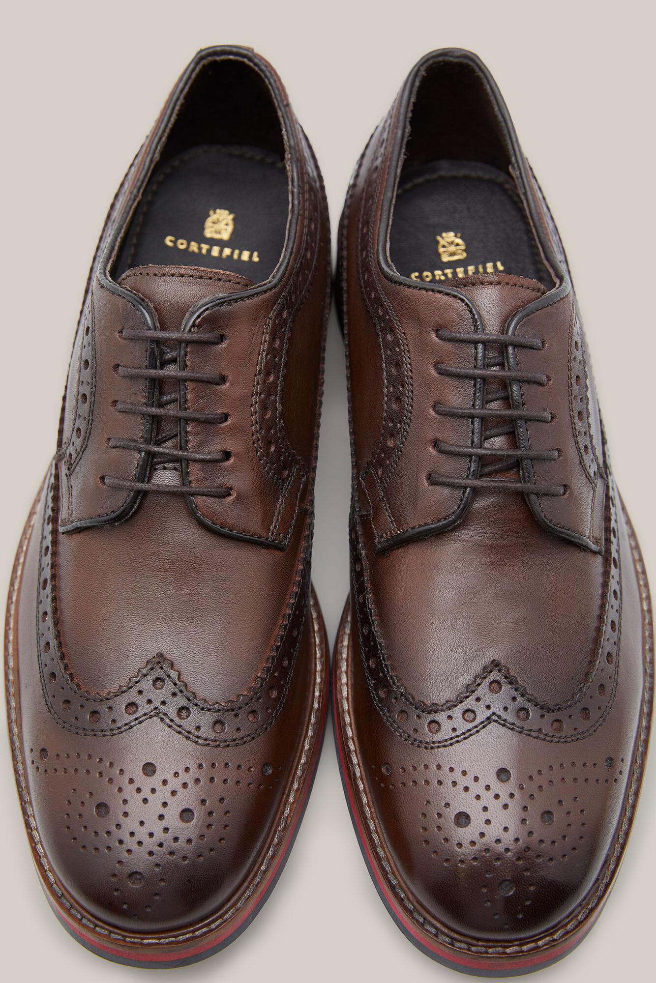 brillo encantador Descubrir diseños atractivos Brogue style leather shoes