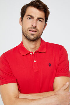 Cortefiel Short-sleeved logo polo shirt Redgarnet